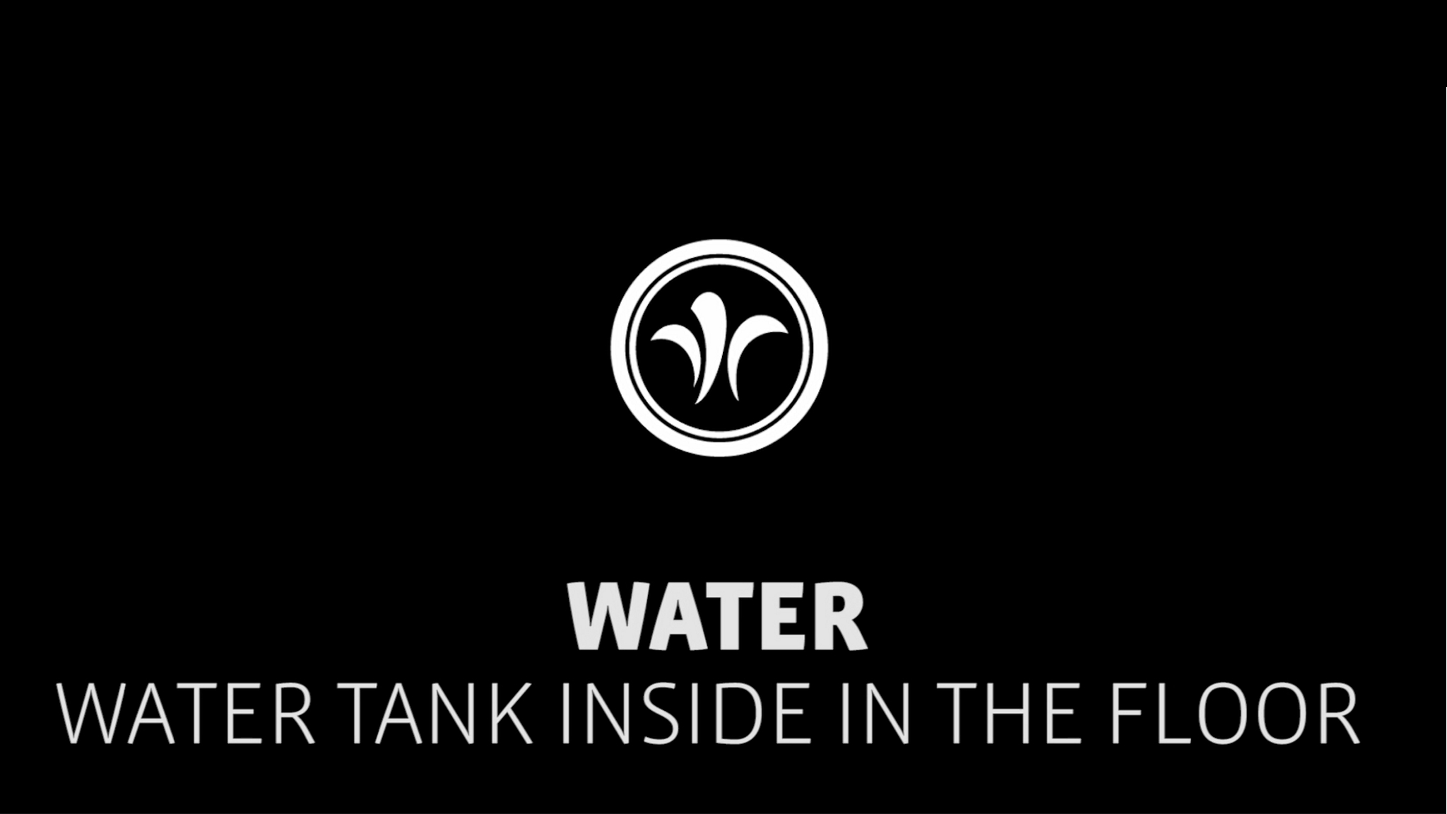 motorhome water tank inside the floor // niesmann+bischoff - camper (model ARTO) // 2019 // WA3