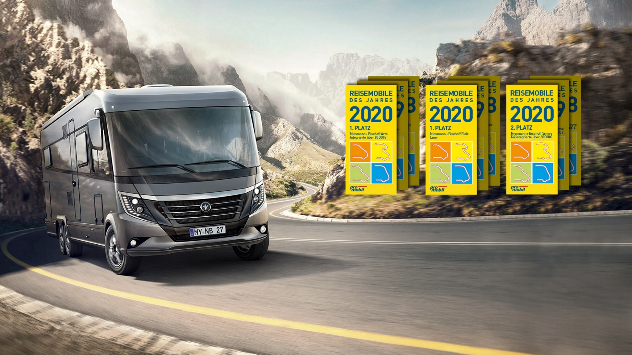 NIESMANN+BISCHOFF - Arto - Plattform - Reisemobil des Jahres 2020 - Flair, Arto und Smove