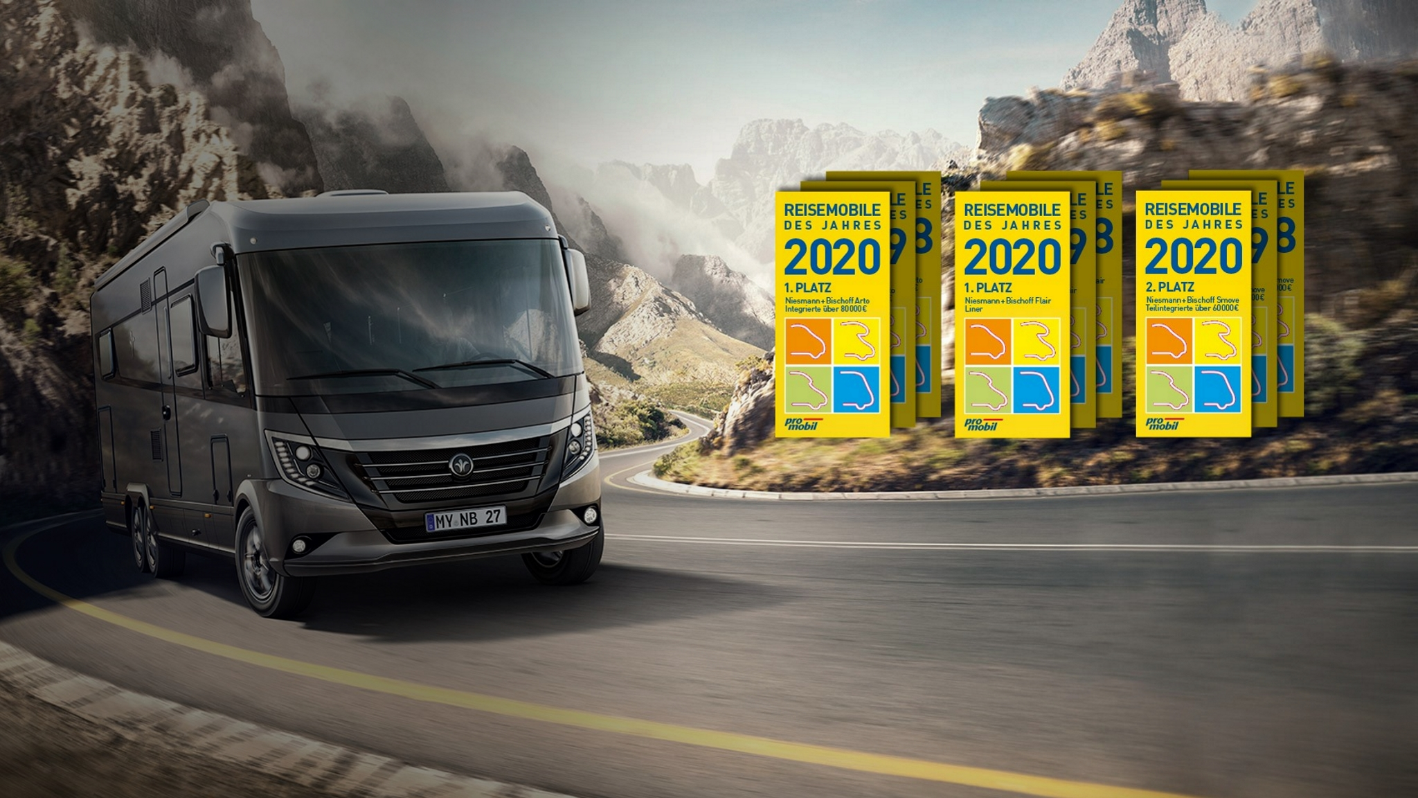NIESMANN+BISCHOFF - Reisemobil des Jahres 2020 - Titelslider