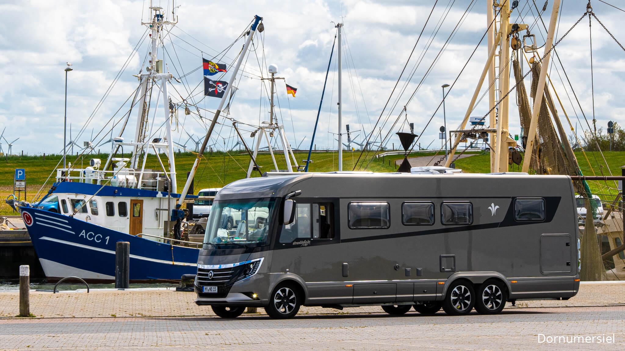 Niesmann+Bischoff - Arto -Stranddeko unterwegs mit einem Arto 85 E - Ihrer neuen Marygold